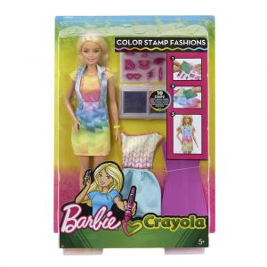 Barbie Crayola stempel fashion