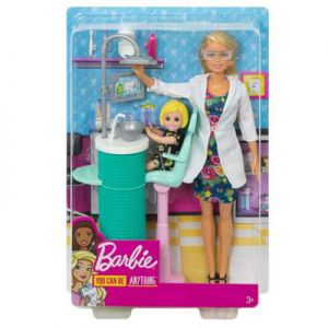 Barbie tandartspop en speelset