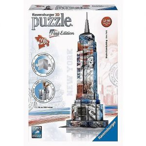 3D Puzzel Empire State Building vlageditie