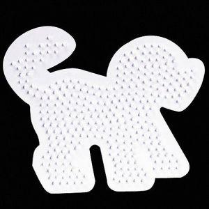 Strijkkralen plaat hond