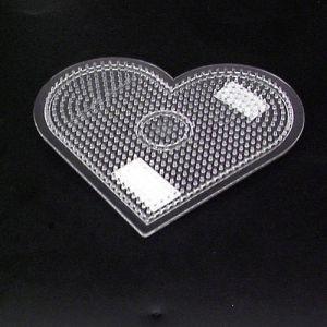 Strijkkralen plaat hart transparant