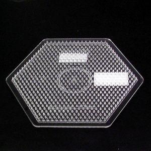 Strijkkralen plaat zeshoek transparant
