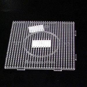 Strijkkralen plaat vierkant transparant