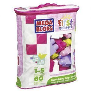 Mega Bloks 60 roze blokken in tas