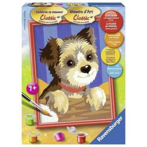 Schilderen op nummer Yorkshire pup
