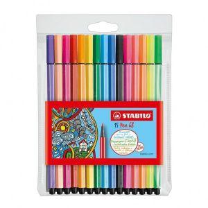 Viltstiften Stabilo Pen 68 10 Stuks + 5 Neon