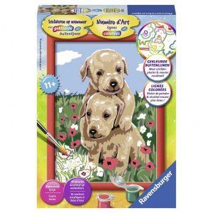 Schilder Op Nr. Knuffelende Puppies