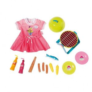 Baby Born play & fun BBQ set