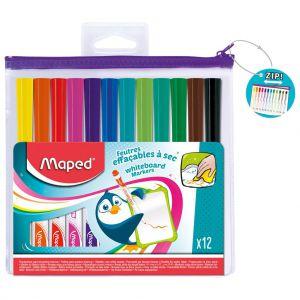 Whiteboard stiften 12 kleuren