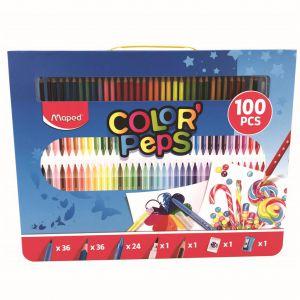 Kleurkoffer 100 delig