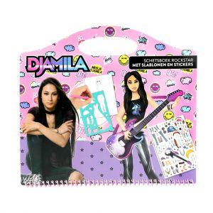 Meisje Djamila Schetsboek Rockster Met Stickers