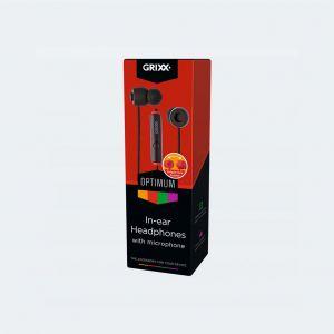 Grixx In-Ear Hoofdtelefoon Met Microfoon Zwart