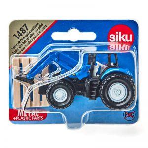 Siku tractor met palletvork en pallet