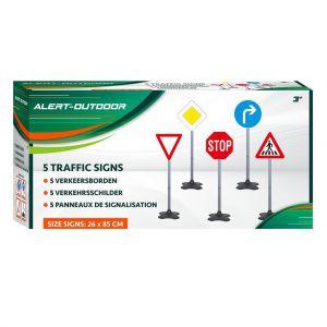 Alert verkeersborden set 5 delig