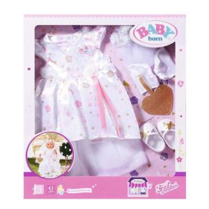 BABY born Boutique Deluxe Bruidsjurk - Poppenkleding - 43cm
