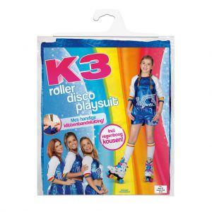 K3 Outfit Roller Disco Met Regenboog Sokken 9-11 jaar