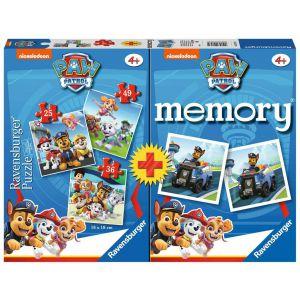 Ravensburger Spel Memory + Puzzel Paw Patrol