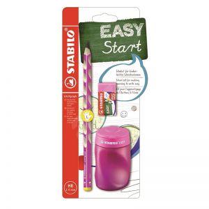 Stabilo easy schoolset roze links