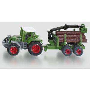Siku tractor met aanhanger - bosaanhangwagen