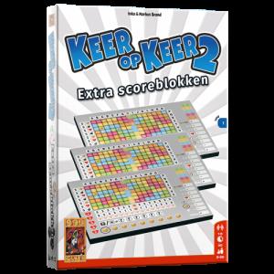 Keer op Keer 2 Scoreblok 3 stuks Level 1 - Dobbelspel