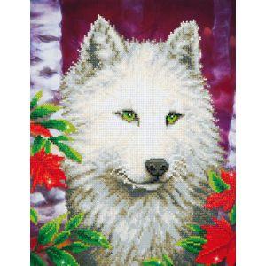 Diamond Dotz witte wolf