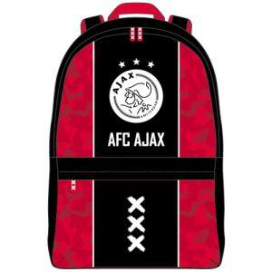 Rugzak Ajax groot rood met zwarte baan: 43x33x17 cm