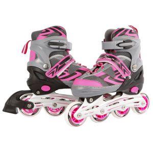 Inline skates roze/grijs maat 35/38