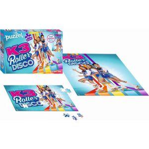Puzzel K3 rollerdisco met poster