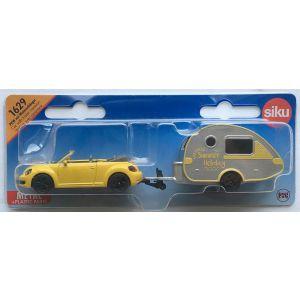 Siku volkswagen beetle met caravan