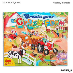 Create your Crazy Farm drawingbook