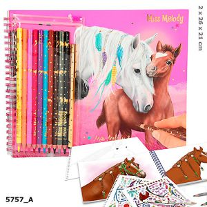 Miss Melody kleurboek met stiftenset