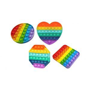 Pop it Fidget regenboog diverse vormen