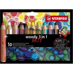 Stabilo woody 3 in 1 arty 10 stuks