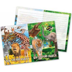 Uitnodigingskaartjes safari